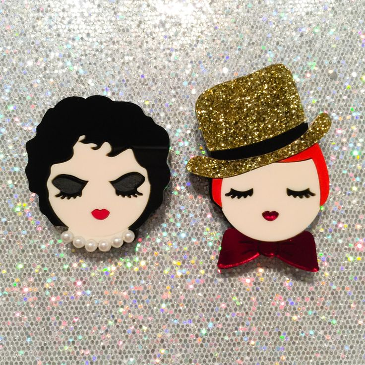 Dr Frank N Furter and Columbia brooch set via baccurelli #witcherystyle