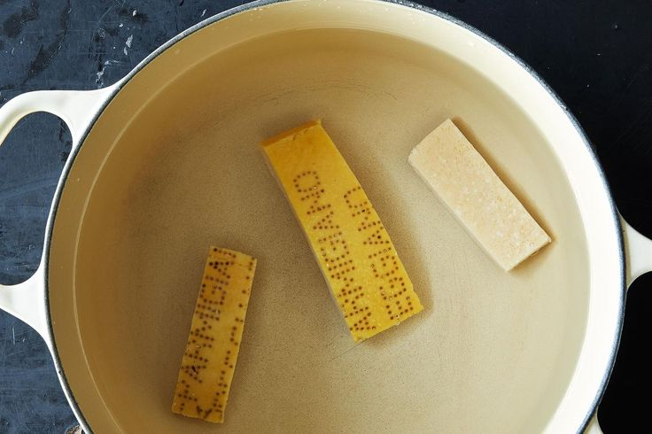 Turn your Parmesan rinds into a flavorful base for soups, stews, and risottos.