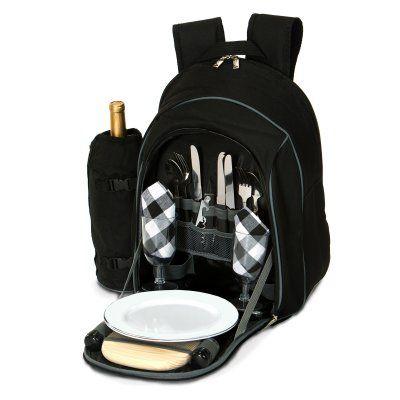 Picnic Plus Endeavor 2 Person Picnic Backpack Black - PS2-258BL