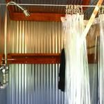 galvanized steel shower with galvanized faucet