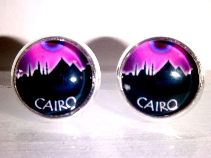Ohrstecker Skyline Cairo Ägypten Damen Ohrringe Ohrschmuck Modeschmuck Glas