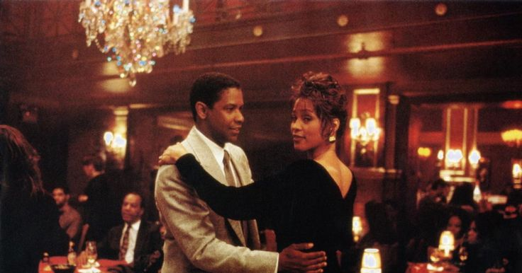 """Denzel Washington and Whitney Houston in the 1996 movie """"The Preacher's Wife"""""""