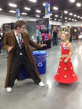 The Doctor can't believe he's found a cute Dalek.......Edmonton Expo 2013.
