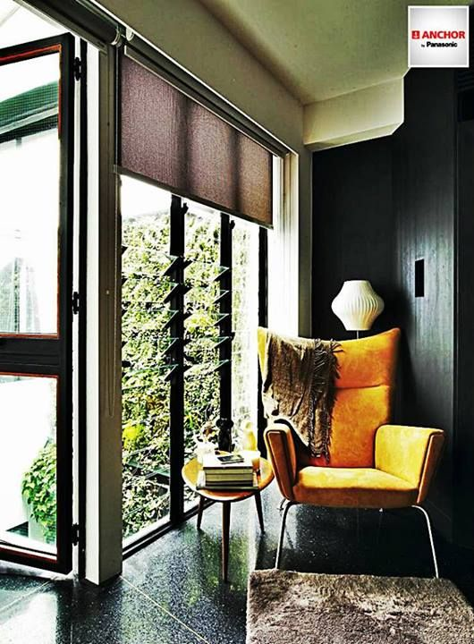 Create your own cosy corner   Natural light and ventilation makes the corner a bright and breezy place for reading.