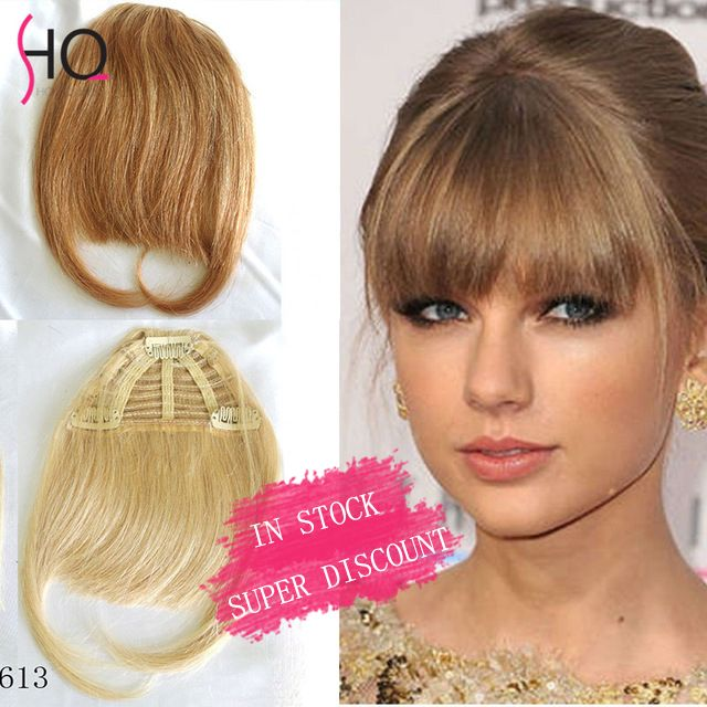 IN STOCK Fringes Bangs 100% Real Human Brazilian Virgin Hair Clips in Extensions Human Hair Bangs Long Hair Clip in Bangs FH01
