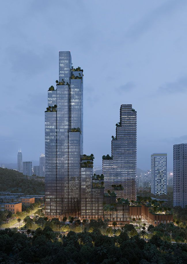 Konka Mixed Use By Mecanoo Green Terrace Architecture Urban Fabric