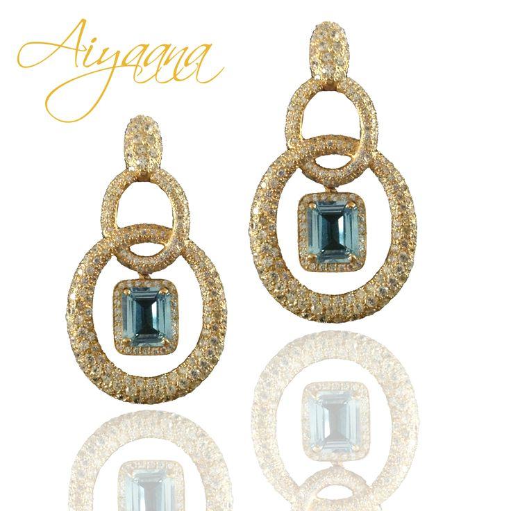 #bluetopaz #handmade #sterlingsilverjewellery #chandelierearrings @aiyaana_jewellery