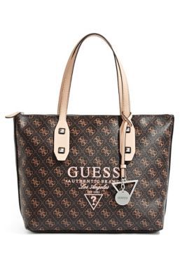 Passport Logo-Print Medium Tote | GUESS.com