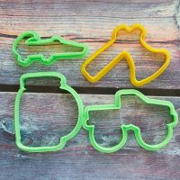 "Cookie cutters set ""Dangerous Fishing"" 4 pcs"