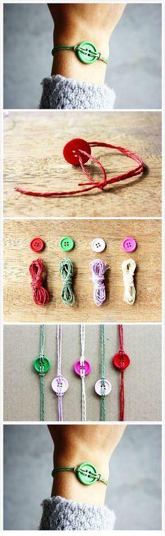 Diy Beautiful Button Bracelet | DIY & Crafts Tutorials @Michael Dussert Puetz Sorensen