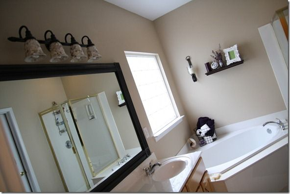 how to frame out a bathroom mirror ideas for the house pinterest