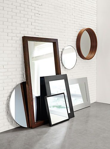 Industry Wall Mirror In Patina