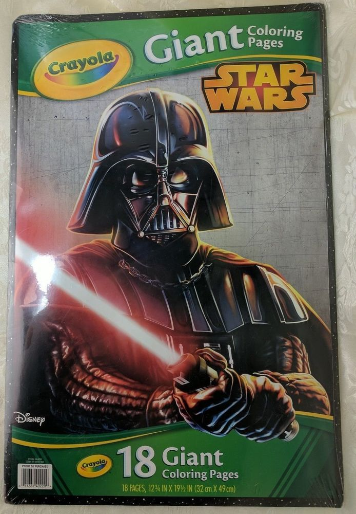 New Giant Crayola Coloring Pages Star Wars Darth Vader Cover 12 3 4 X 19 1 2 Disney Star Wars Crayola Coloring Pages Coloring Pages
