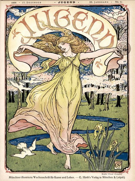 from Art Nouveau magazine die Jugend December 1898 | Art ...