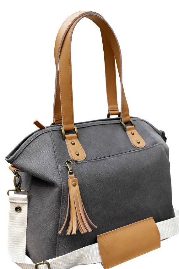 Grey Canvas Diaper bag   https://www.etsy.com/au/listing/240007085/grey-canvas-beige-leather-trimmed?ga_order=most_relevant&ga_search_type=all&ga_view_type=gallery&ga_search_query=&ref=sr_gallery_3