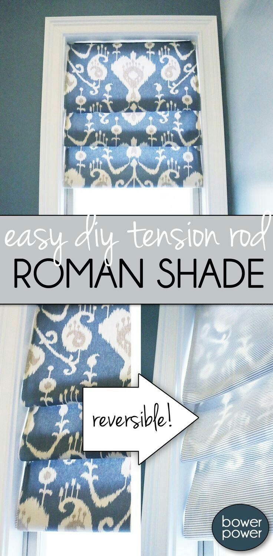 Tension Rod Roman Shade