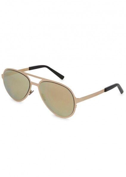 Gold plated grade five titanium sunglasses - Women