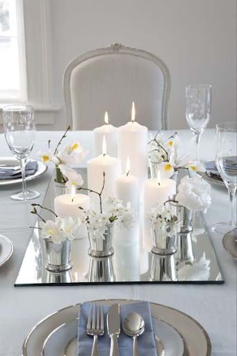Les 25 meilleures id es concernant d corations de table de no l sur pinterest centres de table Idee deco table noel