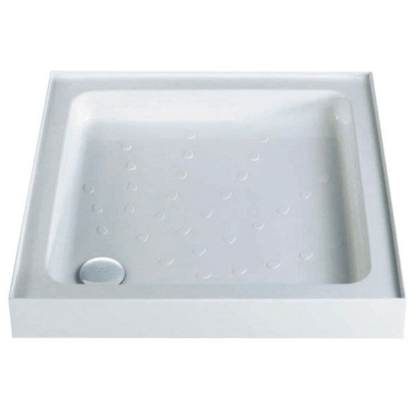 MX - Classic Flat Top Square Stone Resin Shower Tray with free waste profile large image view 1
