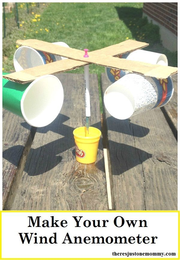 Weather unit activity: make a wind anemometer. Use these simple directions to create your very own wind meter to study the wind speed!