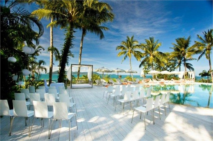 sea pool side deck ceremony
