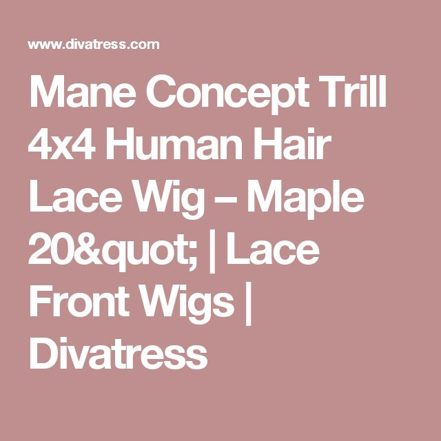 """Mane Concept Trill 4x4 Human Hair Lace Wig – Maple 20""""   Lace Front Wigs   Divatress"""
