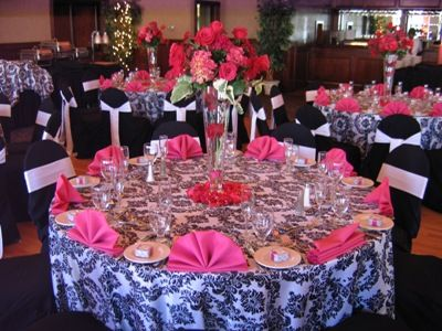 Black And Silver Table Decoration Ideas Wedding Rentals