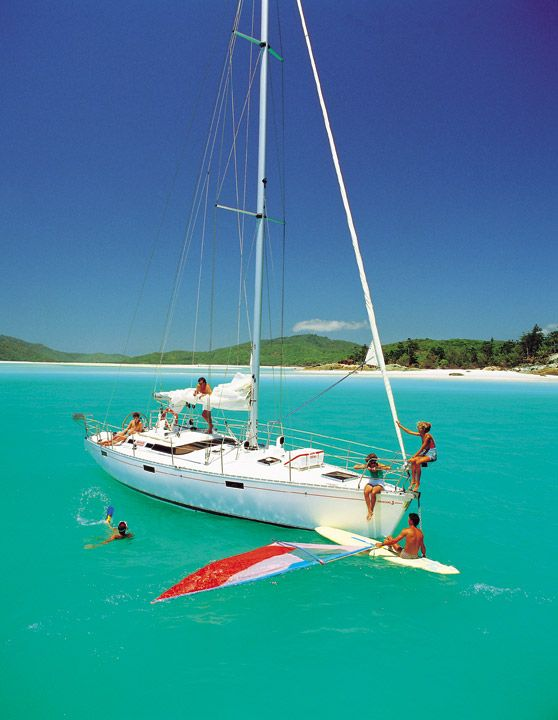 Sailing in the Whitsundays, Australia