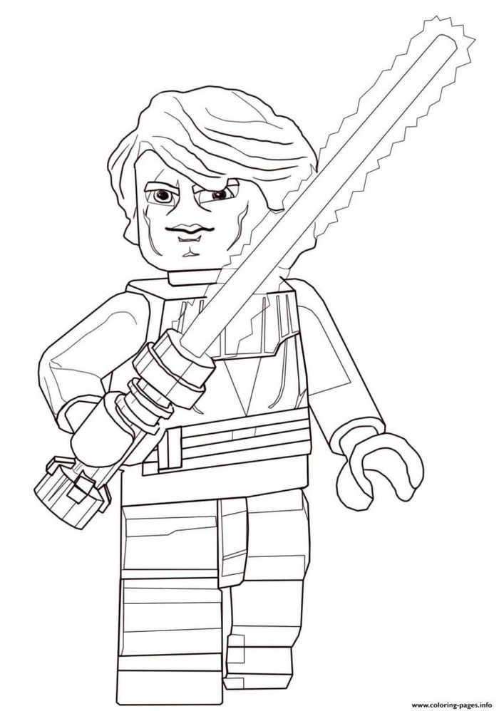 Anakin Skywalker Lego Star Wars Coloring Pages Star Wars Coloring Book Star Wars Coloring Sheet Lego Star Wars