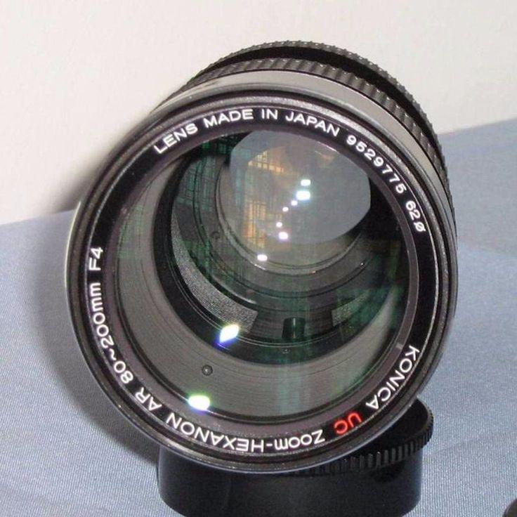 Obiettivo KONICA UC Zoom-Hexanon AR 80-200mm F4 per fotocamera KONICA + custodia in Fotografia e video, Fotografia analogica, Fotocamere analogiche | eBay
