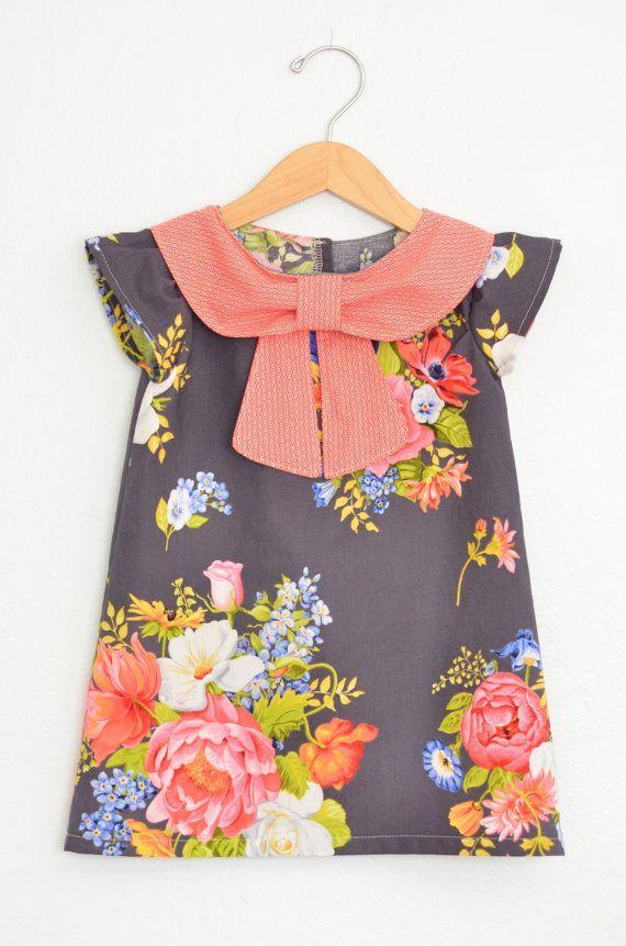 Big Collar Bow Dress by EmsyandCo on Etsy