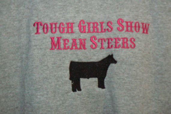 Custom embroidered youth shirts Tough Girls by Blackhatlivestock, $14.00