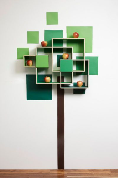 Abstract Tree shelves