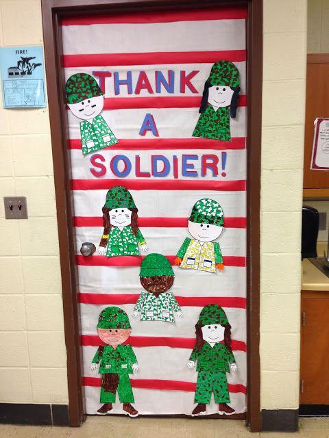 Veterans Day Classroom Door Decoration Ideas : Classy in the classroom happy veterans day my