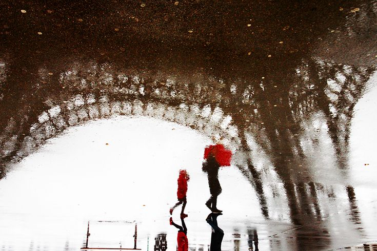 """""""Paris in the Rain - Le petit chaperon rouge"""" by Christophe Jacrot  I miss this place more than anything."""