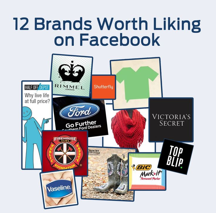 12 fun brands to like on Facebook - all always run great contests and special offers!