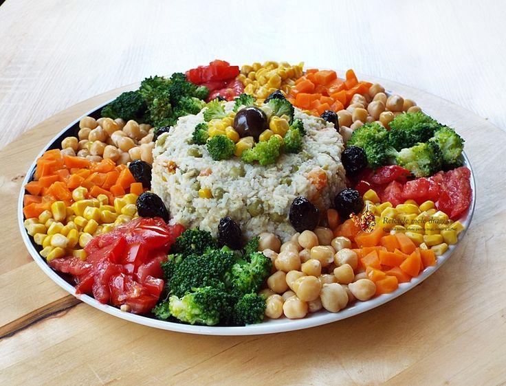 Salata de orez cu legume (de post)--Reteta Video