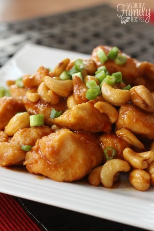 This Crock Pot Cashew Chicken is better than takeout from Chinese Restaurants! Maybe it's because I know there isn't any added MSG or any unknown ingredients.