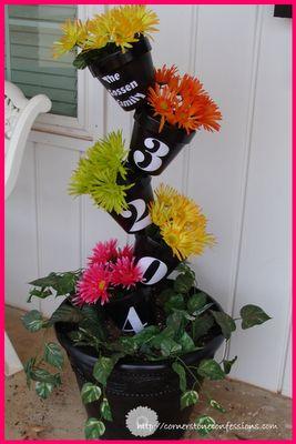 Flower Pot House Numbers - herb garden?