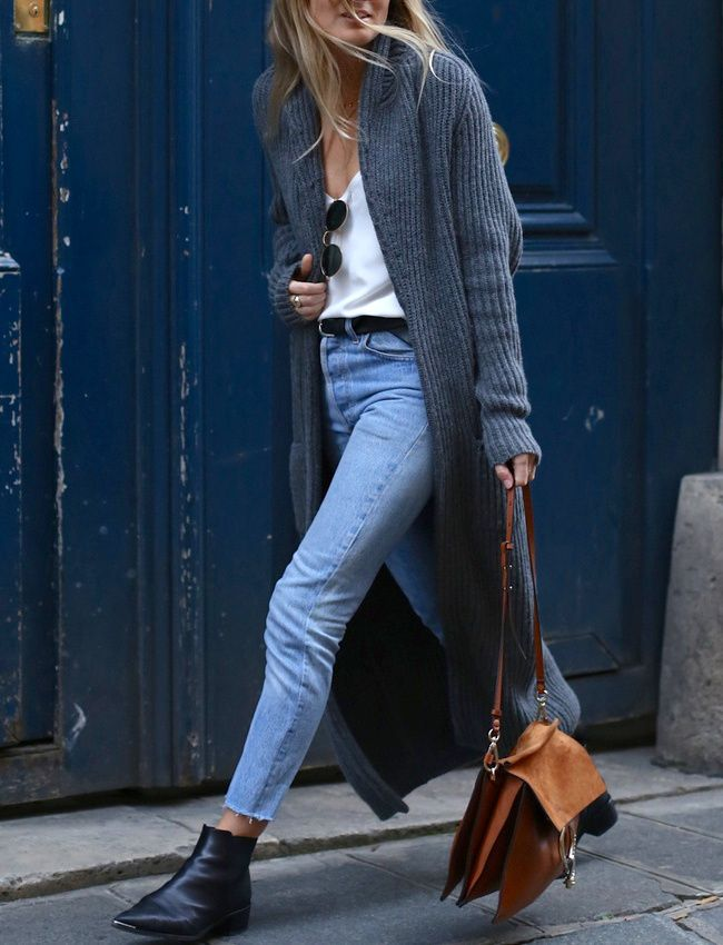 Le long gilet, le trench du printemps ! (sac Chloé - photo Fashion Me Now)