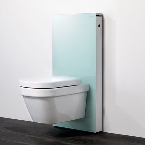 GEBERIT Panneau MONOLITH pour WC suspendu - Vert d'eau - Plomberie sanitaire chauffage