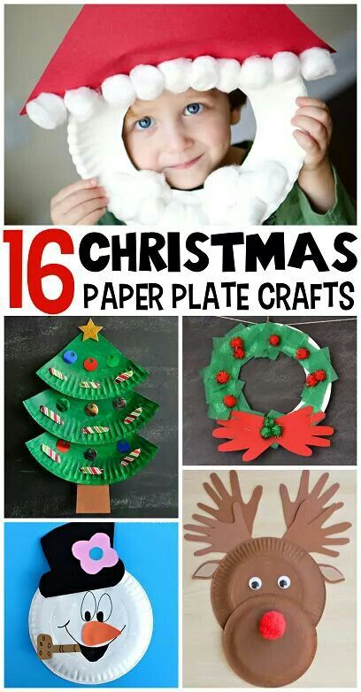16 christmas  crafts , with paper plates.