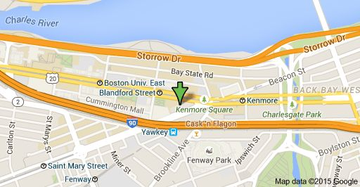 Map of 566 Commonwealth Ave, Boston, MA 02215