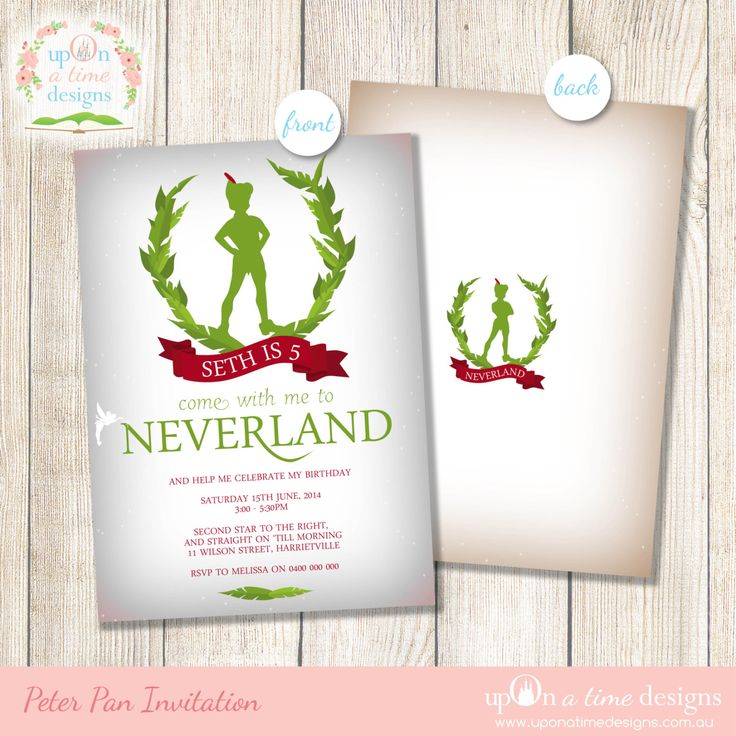 The 25+ best Neverland invitation ideas on Pinterest | Peter pan ...