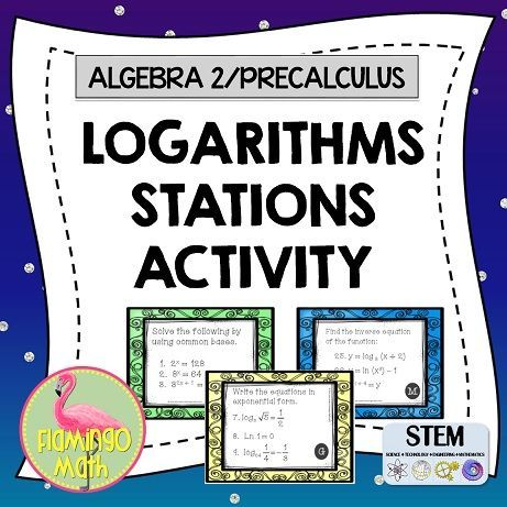 This Algebra 2 Honors or PreCalculus Honors Activity is great for an end-unit review of logarithmic and exponential functions. Students work through 10 stations in groups of 3 or 4 on timed intervals to review the unit in preparation for a test. It's great fun and gives teachers a chance to circulate and assist.
