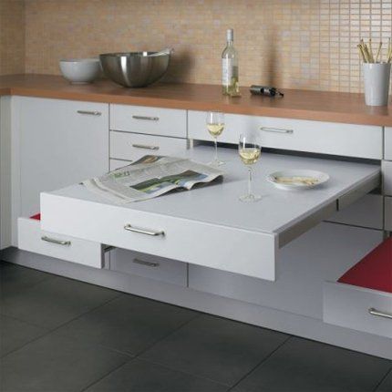 234 best images about archi cuisines on pinterest plan for Table escamotable