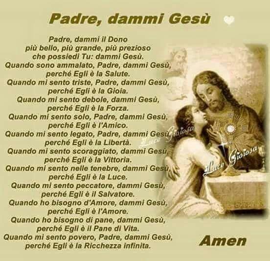 Padre, dammi Gesù
