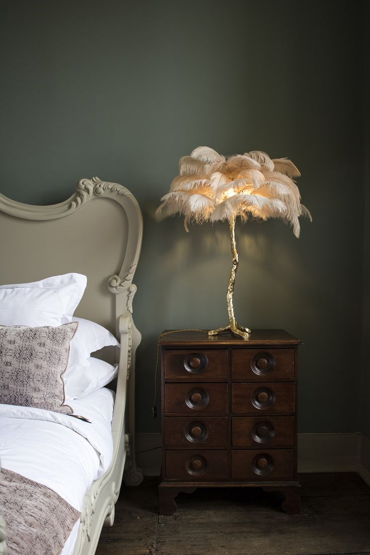 The Mini Feather Lamp Oyster In 2019 Feather Lamp Home