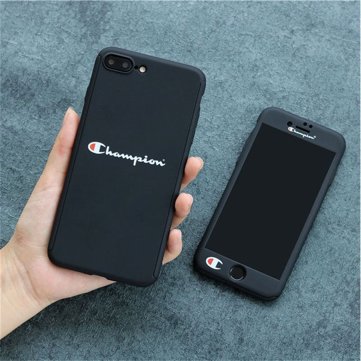 New Champion 360 Full Protect Tempered Glass Case For Iphone X 6 6s 7 8 Plus Black Iphone 7 Plus Case Ideas Iphone 6splus Cases Iphone Cheap Iphone Cases