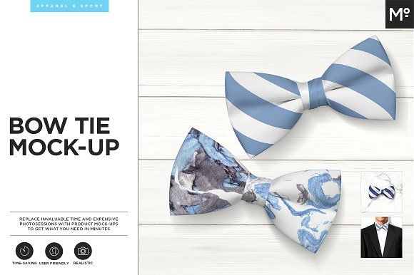 Bow Tie Mock-up by Mocca2Go/mesmeriseme on @creativemarket